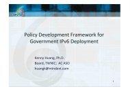 Policy Development Framework for Government IPv6 Deployment