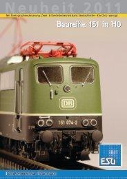 Baureihe 151 in H0 - ESU