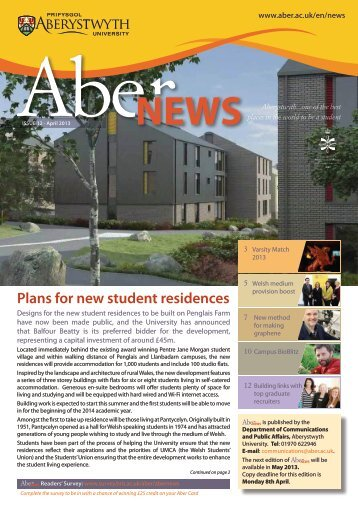 Issue 12 - April 2013 (PDF) - Aberystwyth University