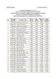 Lista osób przyjętych na I rok 3-letnich studiów niestacjonarnych I ...
