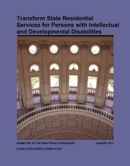 Transform State Residential Services for Persons with Intellectual ...