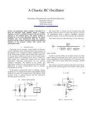 A Chaotic RC Oscillator