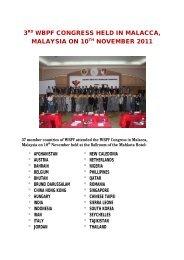 3rd wbpf congress held in malacca, malaysia on 10th ... - ABBF