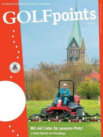 Golfpoints 1-2011 ok.qxd - Golfclub Schloss Westerholt eV