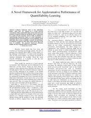 A Novel Framework for Aggloramative Performance of Quantifiability ...