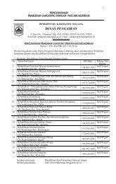 dinas pengairan - pengumuman pengadaan pemerintah kabupaten ...