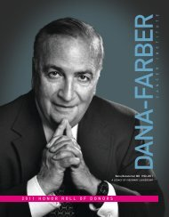 2 0 1 1 honorrollofdonors - Dana-Farber Cancer Institute