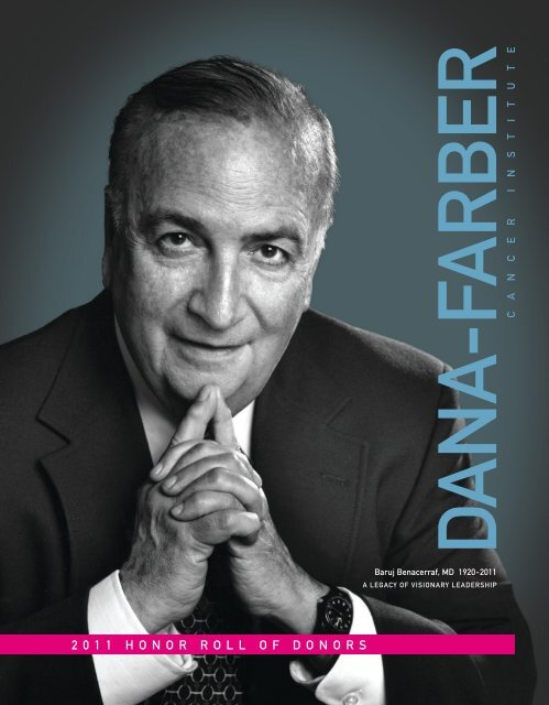 2 0 1 1 Honorrollofdonors Dana Farber Cancer Institute