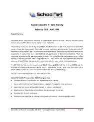 Lesotho Training Report - SchoolNet South Africa