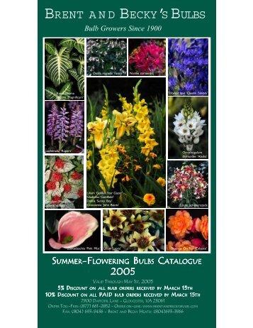 WEB 2005 Summer Catalogue.p65 - Brent and Becky's Bulbs!