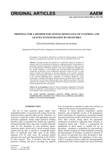 PROPOSAL FOR A METHOD FOR TESTING RESISTANCE OF ...