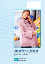 Induction of Labour booklet - Western Health and Social Care Trust