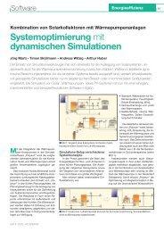 Systemoptimierung mit dynamischen Simulationen - Vela Solaris AG