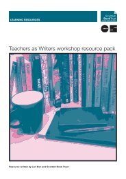 Teachers As Writers resource pack - PDF - Scottish Book Trust