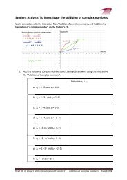 Student Activity: To investigate the addition of ... - Project Maths
