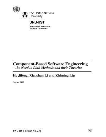 Component-Based Software Engineering - UNU-IIST - United ...