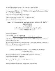 Corrigendum to Directive 2004/48/EC of the European ... - Globenet