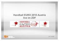 091029_Angebot Handball EM 2010 - ZDF Werbefernsehen