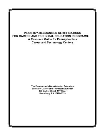 INDUSTRY-RECOGNIZED CERTIFICATIONS FOR CAREER AND ...