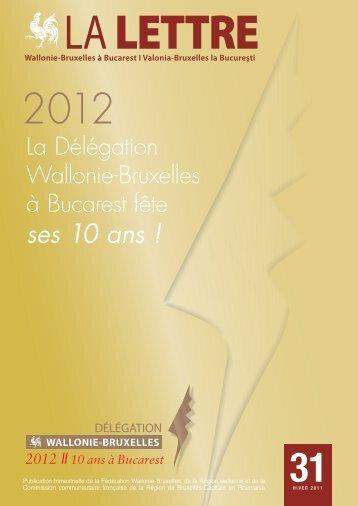 Lettre de la Délégation Wallonie-Bruxelles à Bucarest - n°31 - WBI