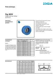 Fiche technique Fig. 895V - SOCLA