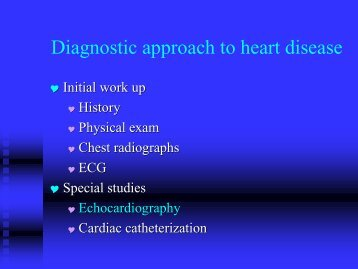 Diagnostic approach to heart disease - Research.vet.upenn.edu