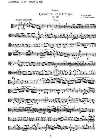 Quartet No. 23 in F Major, K. 590
