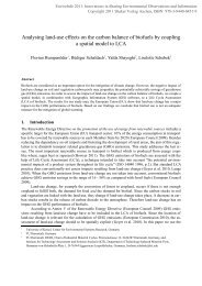 Analysing land-use effects on the carbon balance of biofuels by ...