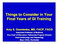 Things to Consider in Your Final Years of GI Training