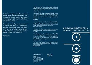 Download Application Form - Australian Directors Guild