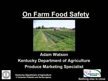 GAP - Kentucky Department of Agriculture