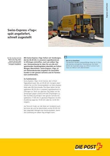 Swiss-Express Â«Tag - Die Schweizerische Post