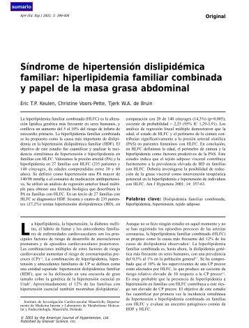 hiperlipidemia familiar combinada y papel de la - El Médico Interactivo