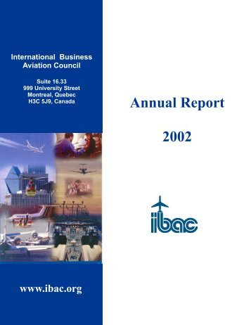 IBAC 2002 Annual Report - International Business Aviation Council