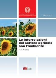 Le interrelazioni del settore agricolo con l'ambiente - Istat.it