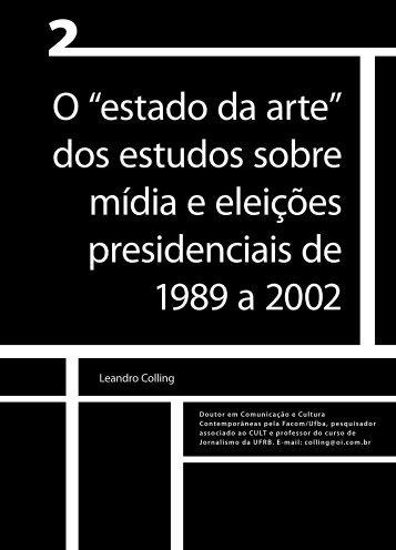 """O """"estado da arte"""" dos estudos sobre mídia e ... - Faculdade Social"""