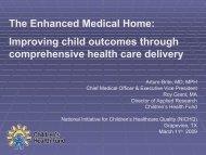 The Enhanced Medical Home - Children's Health Fund