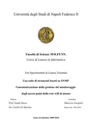 Download - Scope - Università degli Studi di Napoli Federico II