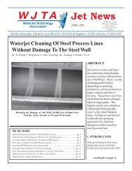 Waterjet Cleaning Of Steel Process Lines Without Damage To The ...