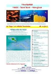01-Tauchpaket PPT-BOB-RGI-16 Tage - World Travel Net