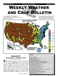weekly weather and crop bulletin - The World AgroMeteorological ...