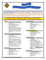 Summertime Pack Activities - Cub Scout Pack 883