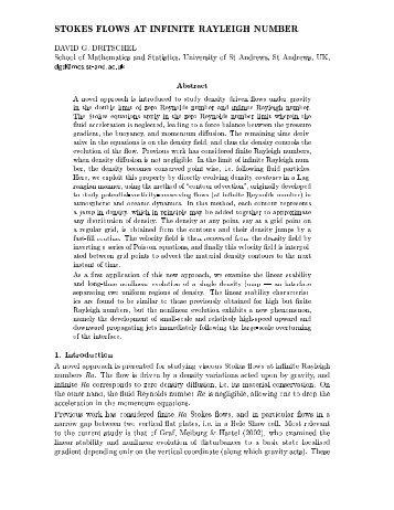 £ ¡ & § 24 689§& DAVID G. DRITSCHEL School of Mathematics and ...
