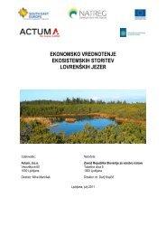 ekonomsko vrednotenje ekosistemskih storitev lovrenÃ…Â¡kih ... - Natreg
