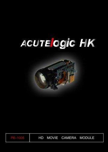 HD MOVIE CAMERA MODULE PE-1005 - Acutelogic