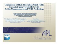 Comparison of High-Resolution Wind Fields Extracted from ... - Nato