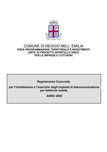 telefonia mobile.pdf - Comune di Reggio Emilia
