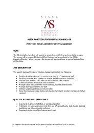 aissa position statement ais job no: 08 position title: administrative ...