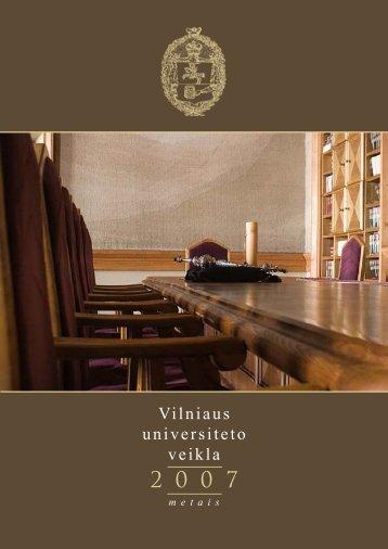 Vilniaus universiteto veikla 2007 metais - Vilniaus universitetas