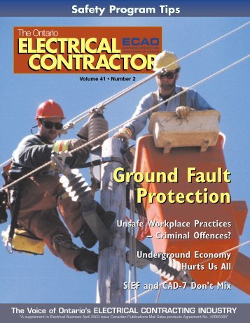 Ground Fault Protection - Electrical Contractors Association of Ontario